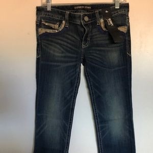 NWT Express skinny low rise jeans size 4s